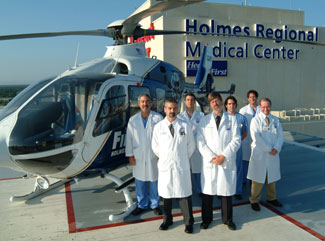 Trauma physicians at Holmes Regional Medical Center