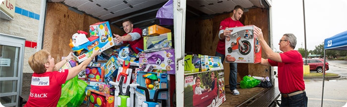 Health First Teams Up with South Brevard Sharing Center to Buy Hundreds of Holiday Gifts for Children in Need