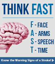 Think FAST - Face / Arms / Speach / Time