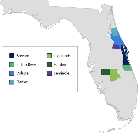 In-Network Providers in Brevard County, Highlands County, Indian River County, Hardee County, Volusia County, Seminole County, Flagler County