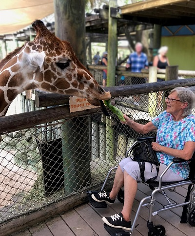 Connie Hospice Patient's VIP Zoo trip