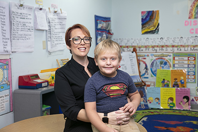 Nancy and JJ in VPK classroom