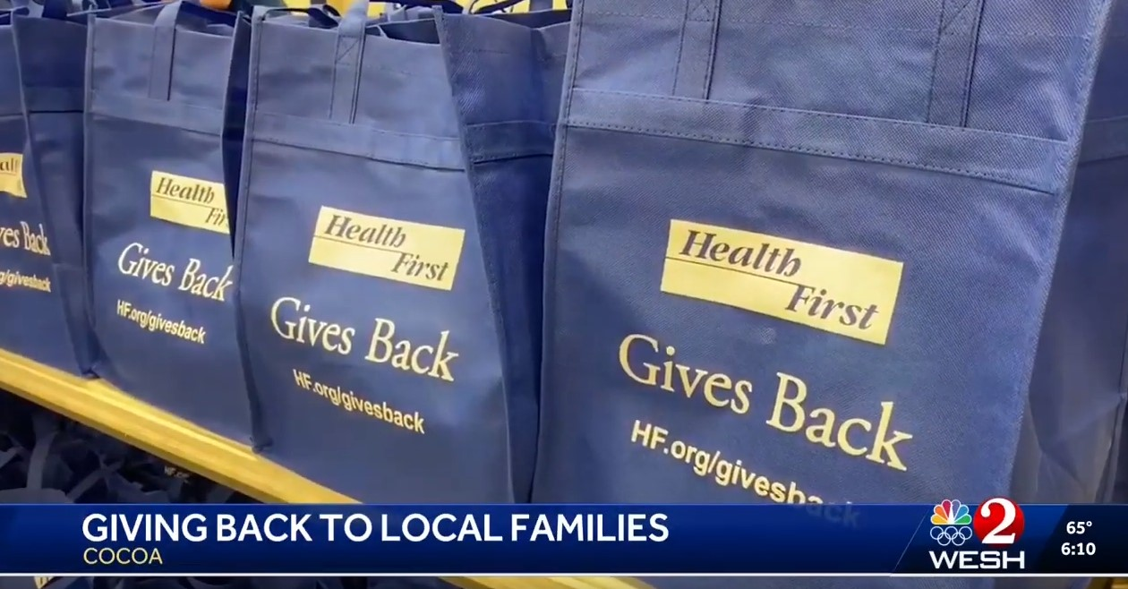 Health First Gives Back Donation Bags