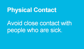 Physical Contact - Avoid close contact with people who are sick